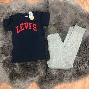 Levi's   Kids 2 Piece Set   Navy & Grey   Size L